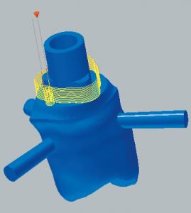 Titanabutment Schlichten der Implantat-Anschlussgeometrien